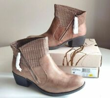 BOC Born Bendell Size 7 Boots Booties Ankle Taupe Beige Women Fabric Z26717