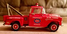 Matchbox Collectibles 1955 Chevy Pickup w/Bed Acces. 1:43 Red Diecast Tow Truck