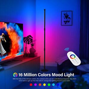 RGB Colour Changing LED Corner Floor Lamp Standing Mood Light 130cm w/ Remote