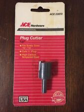 New in Package Ace Hardware 1/2-in Plug Cutter PN 23072 Made In USA