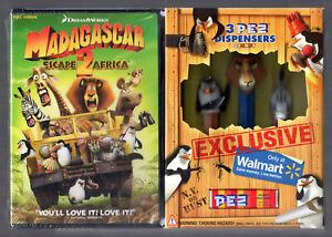 Madagascar 2 Rare PEZ Dispensers & DVD FS Set 3 Dispensers NEW SEALED ii