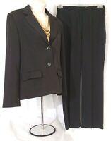 Sag Harbor Petites Womens Black Polyester Spandex Pant Suite Sz 6P