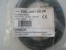 NEW SEALED OMRON E2EL-X8E1-DS PROXIMITY SWITCH SENSOR  24V DC
