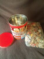 Vintage Coca Cola jigsaw puzzle with Coke Signs Tin.  Puzzle bag is sealed New