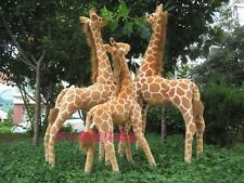 96cm Standing Simulation Giraffe Plush Toy Stuffed Animals Soft Doll Party Gifts