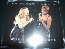 Mariah Carey & Whitney Houston When You Believe Australian CD Single - Like New