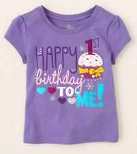 "NEW! ""Happy 1st Birthday To Me!"" Baby Girls Shirt 12-18 Months 1 Year Gift! SS"