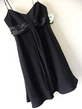 NWT NINE WEST 8 BLACK COCKTAIL DRESS S Strapless Party Lined Draping Little NEW