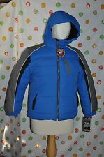 PROTECTION SYSTEM BUBBLE HOODED sky diver blue COAT BOYS 10/12 NWT