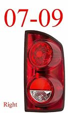 07 09 Dodge Right Tail Light Assembly, Ram Truck, 1500 2500 & Mega Cab CH2801165