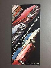 1982 Porsche Full Line 911 924 & 928 Leasing Showroom Sales Brochure RARE!! L@@K