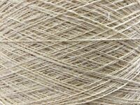QUALITY YARN CONE 2 PLY 58% / 42% LINEN / COTTON BLEACHED 1000g 20 BALLS *CHEAP*