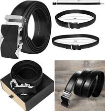 Cinturon Hombre Automático Cuero sin agujeros,parte del cuero 120 cm de longitud