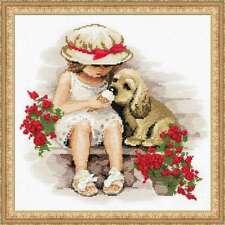 "Riolis Cross stitch kit ""Sweet Tooth"" Dog handmade needlework Embroidery"