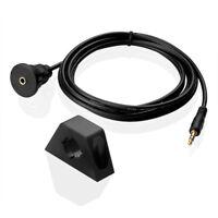 6ft 2m Auto Einbau AUX 3,5mm Klinke Auf Stecker Adapter Verlängerung Kabel KFZ