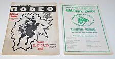 1962 Mid-Ozark Rodeo Program Waynesville, Missouri, and Friday Night Insert