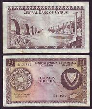 Cyprus 1 Pound 1.03.1968 Prefix C/36  131842  P#43  (Алб5е 15)