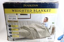 "Pendleton Weighted Blanket 48"" x 72"" 10 lbs Gray Open Box New"