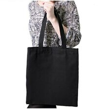 10 Pack of Cotton Tote Bags Bag Black Shopper Shopping Eco Friendly 38cm 42cm