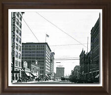 Vintage Broadway Brown Rust Framed Wall Decor Art Print Picture (19x23)