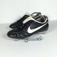Men's Nike Tiempo Pro Zoom Air Black Football Boots Sports Outdoor Active Size 7