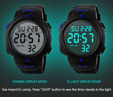 New 2016 Men Sports 50M Waterproof Fashion Casual Digital LED Watch