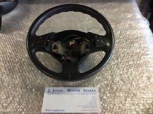 2008-2014  Fiat 500 Twinair Multi Function Leather Steering Wheel in Black