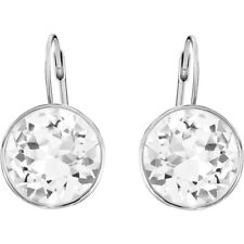 Swarovski Crystal Bella Rhodium Plated Pierced Earrings 5085608