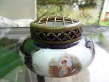 Vintage Ceramic with  Metal Top Cage Flower Arranging Floral Frog