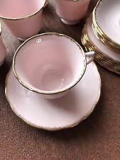 Vintage Bone China Tea Set Royal Vale ( Pink/ Gold