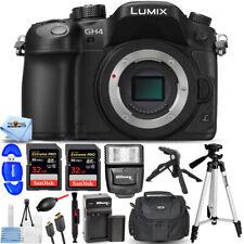Panasonic Lumix DMC-GH4 Mirrorless Digital Camera Body + EXT BATT + 64GB Bundle