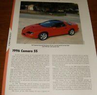★★1996 CHEVY CAMARO SS SPECS INFO PHOTO 96 SLP LT1 95 97★★