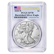 2020-W 1 oz Burnished Silver American Eagle PCGS SP 70 First Strike