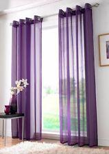 Rideaux et cantonnières violet pour le séjour