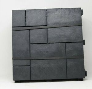 "10 Pack Multy Home 12"" x 12"" Deck Tile Mosaic Pattern - Slate - Black"