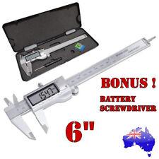 150mm 6inch Vernier Caliper Electronic LCD Digital Gauge Stainless Micrometer
