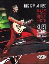 Kurt Allison (Jason Aldean Band) EVH 5150 guitar & amps ad 8 x 11 advertisement