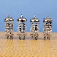 4 VINTAGE AMPEREX 12AX7 ECC83 TUBES HOLLAND SHORT PLATE HALO GETTER AMP PREAMP