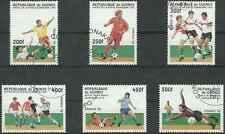 Timbres Sports Football Guinée 1105/10 o lot 3088