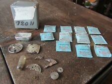 for Repair Watchmaker Some Nos Vintage Bulova Wrist Watch Parts