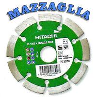 HITACHI DISCO DIAMANTATO A SETTORI DIAMETRO 115 x H22,23 mm cod. 773070
