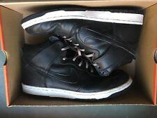 2001 Nike Dunk Hi Plus B STUSSY black/black-white 302763-001 w/box US12/EU46