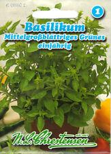 Basilikum für 400 Pfl Kräuter Gewürz Samen Saatgut Sämereien Seeds Aussaat Basil