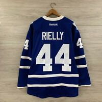 Toronto Maple Leafs #44 Morgan Rielly NHL Authentic Reebok Fight Strap Jersey 50