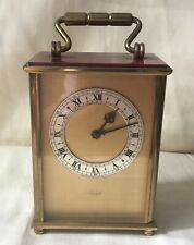 Vintage Imhof 15cm Brass Carriage Clock Working Order Though Needs Attention
