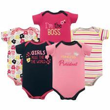 Luvable Friends Girl Bodysuits, 5-Pack, Girl President