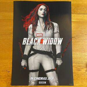 Marvel BLACK WIDOW Odeon Poster, A3 Size, Disney, Natasha, Movie, Odeon cinema