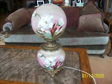 Gone With The Wind Handpainted Electric Porcelain Made In Us Of America Lamp