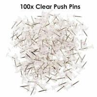 100x Transparent Pinnwand Reißnägel Reißzwecken Heftzwecken Pinnwandnadeln