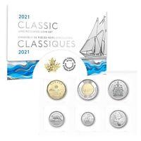 Classic Canadian Uncirculated Mint Set (2021) 6-coin Set - $2 $1 50c 25c 10c 5c